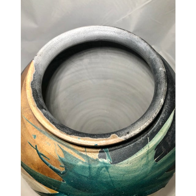 Raku Pottery Vessel, Signed For Sale - Image 4 of 6