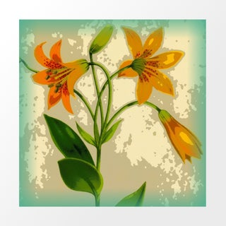 Vintage Daylilies Archival Print For Sale