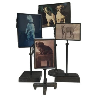 Group of Metal Standing Picture Frames For Sale