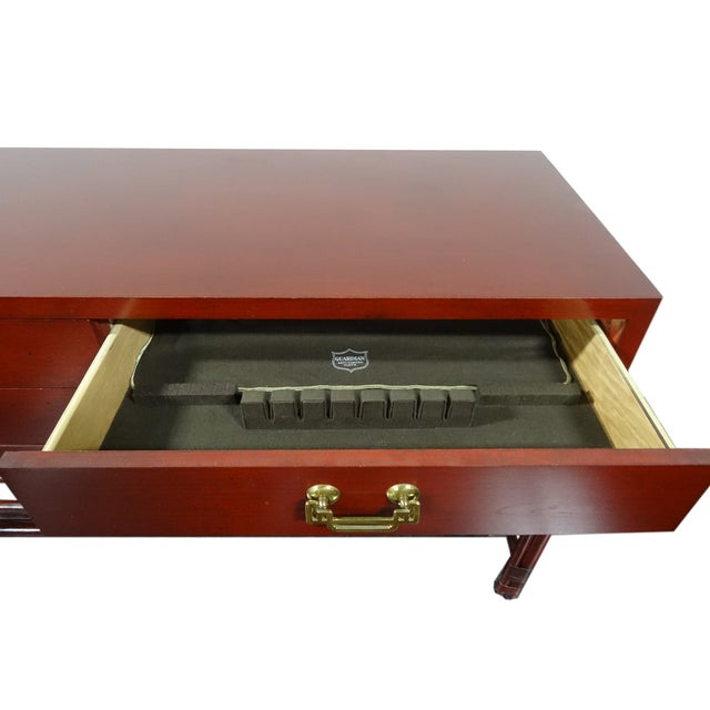 Ficks Reed Red Asian Sideboard Console - Image 6 of 11