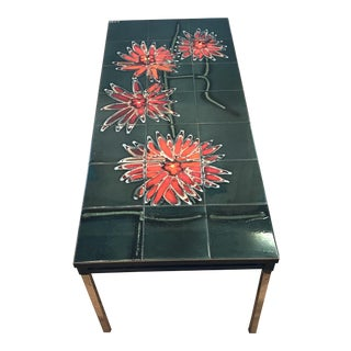 1960s Contemporary Adri Belgique Tile Top Coffee Table For Sale