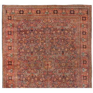 Antique 19th Century Persian Sarouk Carpet For Sale