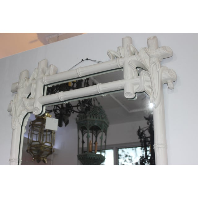 Gampel - Stoll Faux Bamboo Mirror For Sale - Image 11 of 13