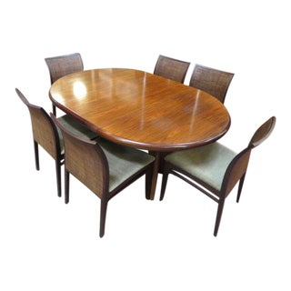 Mid-Century Modern Italian Dining Set - 9 Pieces For Sale