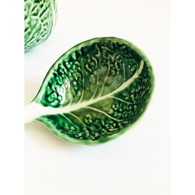 Vintage Cabbageware Lidded Serving Bowl For Sale - Image 9 of 13