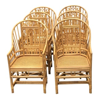 Vintage Mid Century Brighton Bamboo Chairs - Set of 6 For Sale