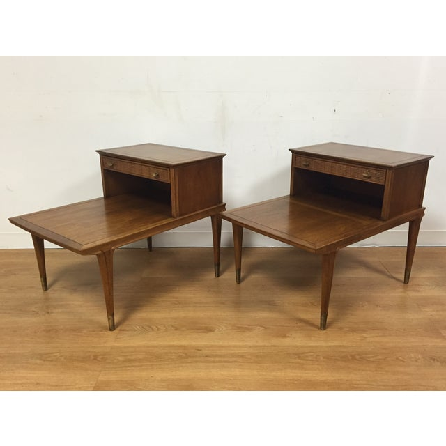Mid Century Sculpted End Tables - a Pair - Image 2 of 11