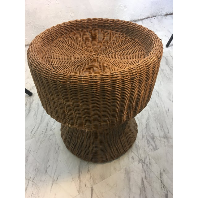 Vintage Wicker Plant Stand For Sale In Charleston - Image 6 of 7