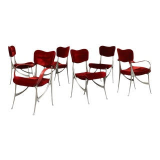 """Oscar Tusquets """"Lucas"""" Dining Chairs for Driade - Set of 6 For Sale"""