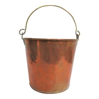 19th Century Antique Copper & Brass Bucket For Sale