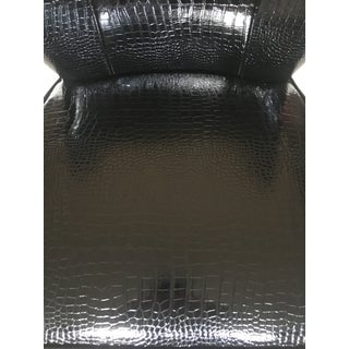 Contemporary Faux Crocodile Vinyl Chair Preview