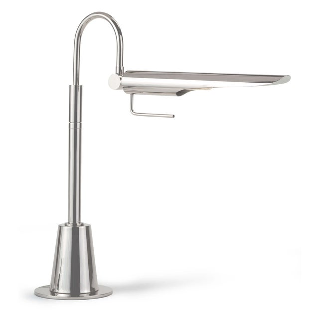 Not Yet Made - Made To Order Raven Task Lamp in Polished Nickel For Sale - Image 5 of 5