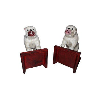 Rustic Caxt Iron Bull Dog Bookends - A Pair Preview