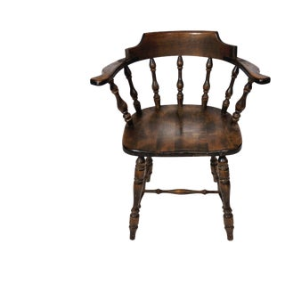 Vintage French Bistro Spindleback Chair For Sale