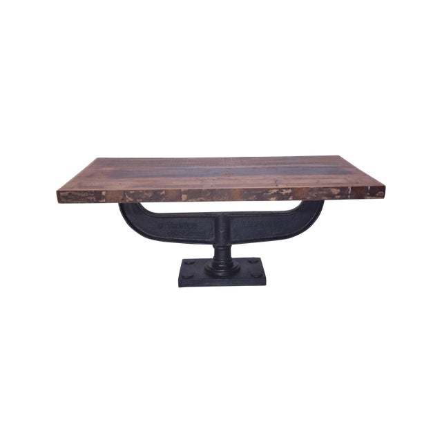 Contemporary Austen Iron Coffee Table For Sale