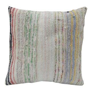 Handmade Hemp Turkish Kilim Pillow Cover For Sale