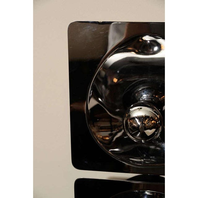 Metal Modernist Four-Way Chrome Sconce & Wall Sculpture by Sciolari For Sale - Image 7 of 10