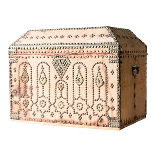 19th Century Spanish Upholstered Trunk For Sale