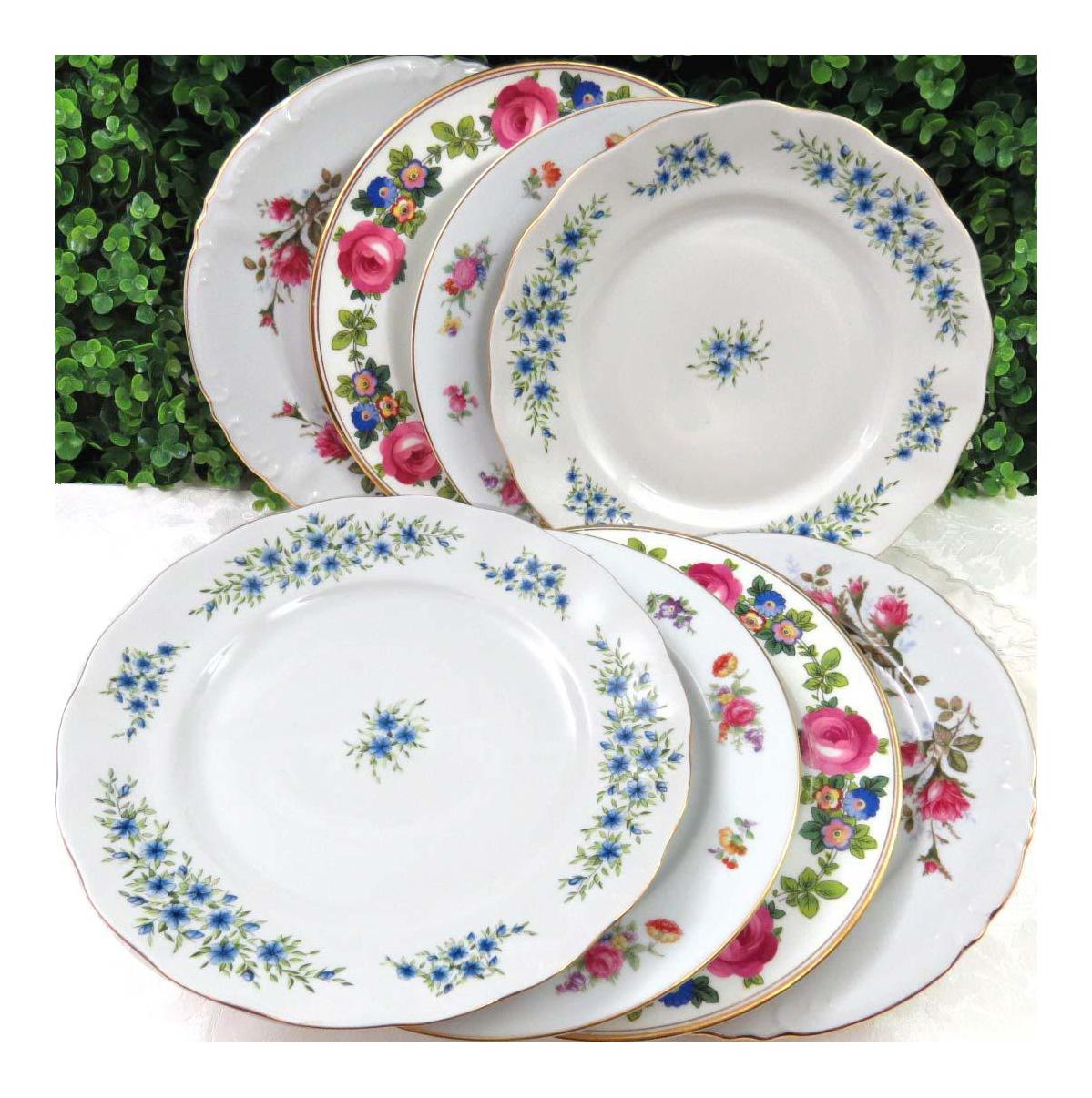Mismatched Vintage Dinner Plates - Set of 8  sc 1 st  Chairish & Mismatched Vintage Dinner Plates - Set of 8   Chairish