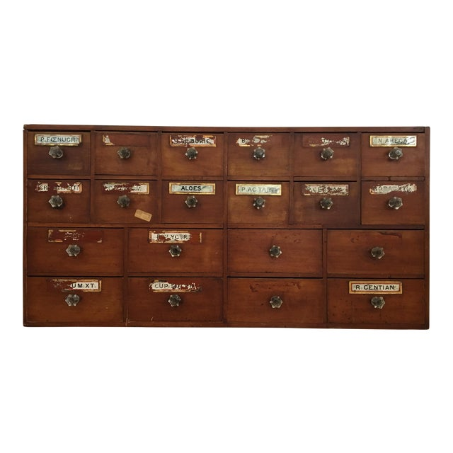1800s English Apothecary Cabinet - Image 1 of 11