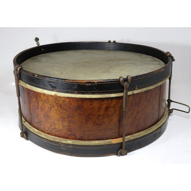 Early 20th Century Antique Parade Marching Snare Drum For Sale - Image 9 of 13