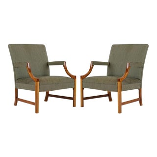 Pair of Ole Wanscher Armchairs For Sale