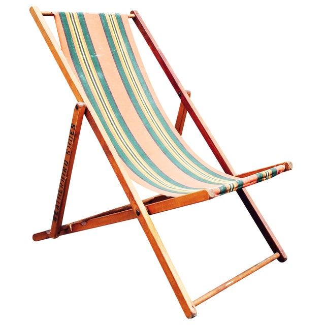 Antique Folding Beach Chair - Image 1 of 6