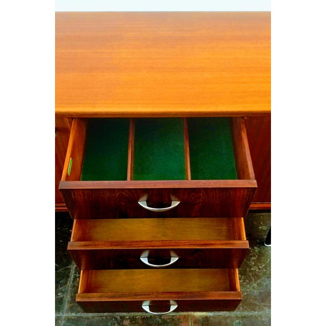 1960s Danish Modern Jentique Furniture Tola and Rosewood Credenza For Sale - Image 9 of 12