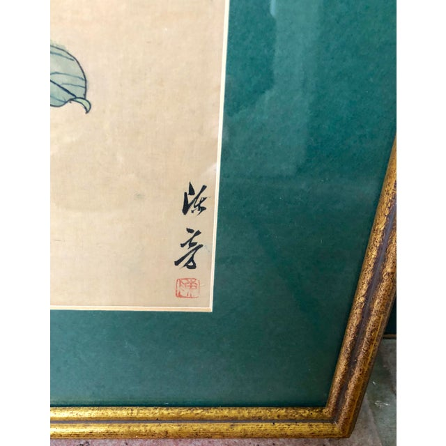1940s Vintage Chinese Floral Watercolor Paintings - A Pair For Sale In New York - Image 6 of 11