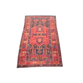"""Antique Persian Circa 20th Century Wool Rug - 8'10""""x4'9"""" For Sale"""