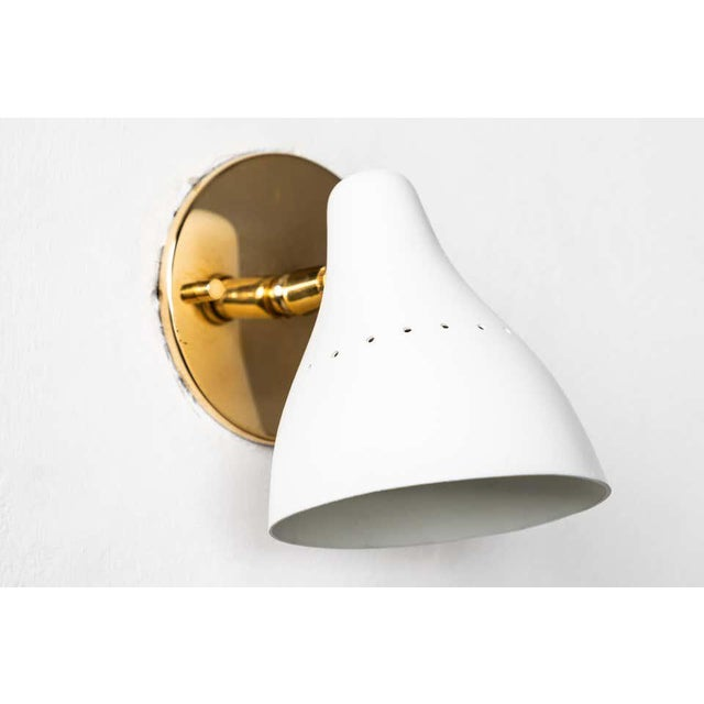 1950s Gino Sarfatti White Articulating Sconce for Arteluce For Sale - Image 9 of 13