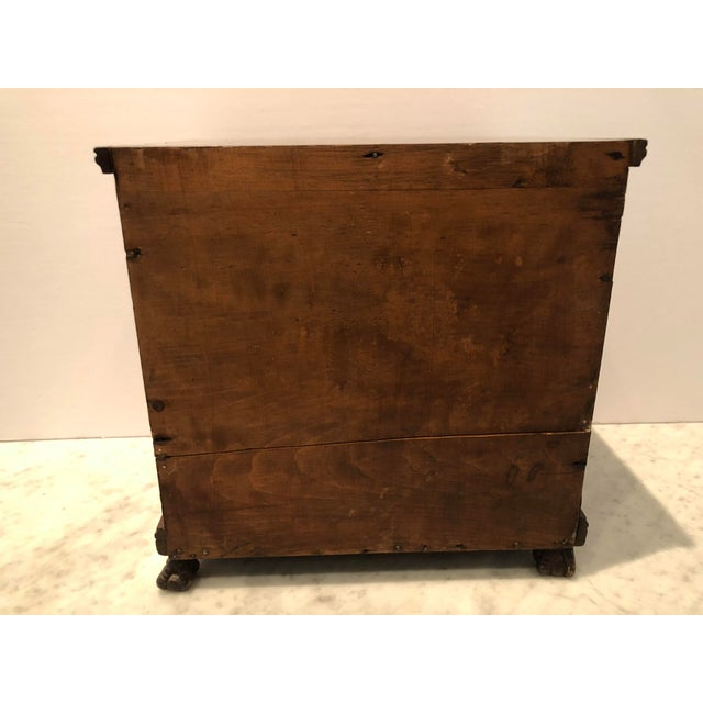 Wood 19th Century Mahogany Man's Jewelry Case For Sale - Image 7 of 10