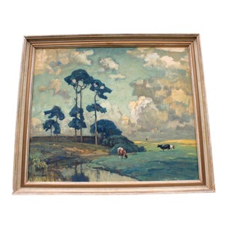 Early Plein Air Landscape Painting For Sale