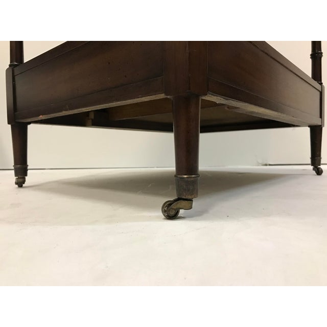 Hekman Walnut Side Tables - Pair For Sale - Image 12 of 13