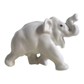 Royal Copenhagen Porcelain Elephant Figurine For Sale
