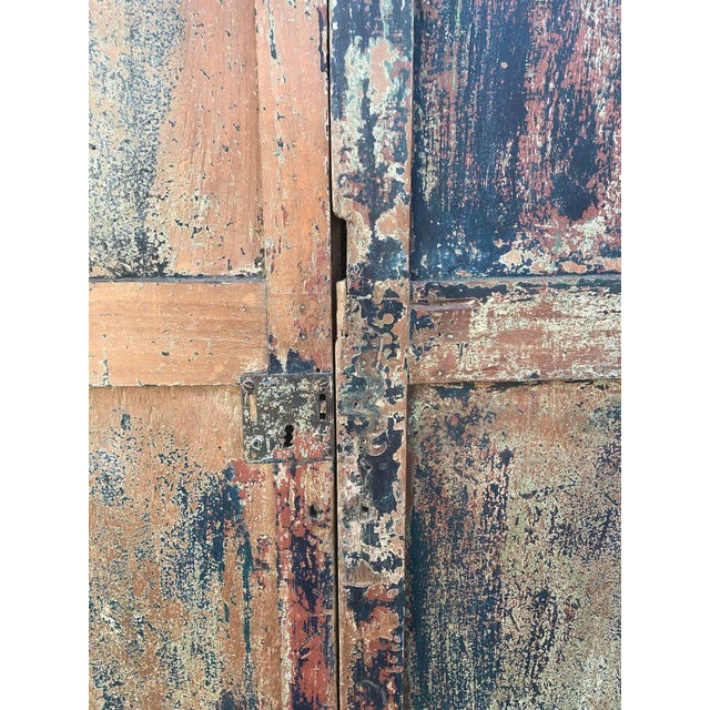 Wood Pair of 19th Century Painted Doors For Sale - Image 7 of 9