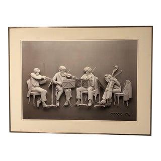 Rehearsal Original Offset Lithograph by Siegbert Reinhard For Sale