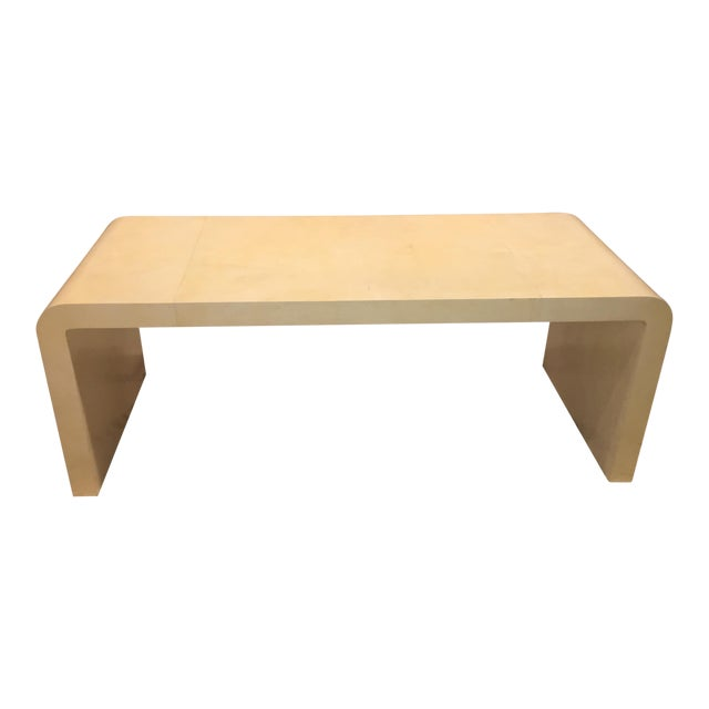Goatskin Waterfall Table For Sale