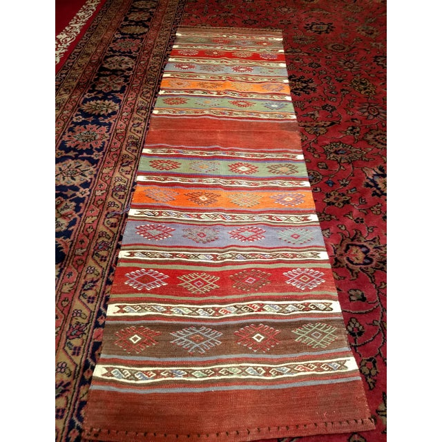 "Vintage Moroccan Kilim Runner Rug - 2' 3"" X 7' 10"" For Sale - Image 12 of 13"