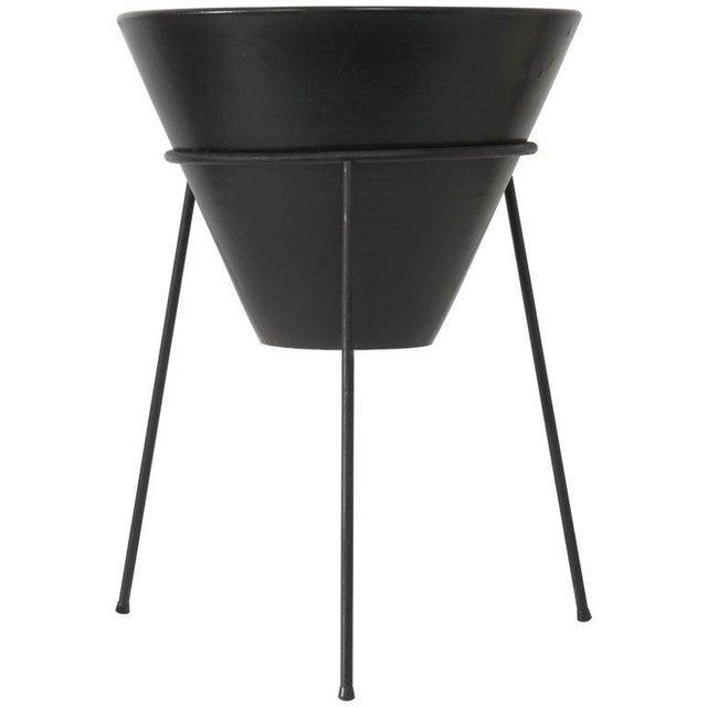 Black La Gardo Tackett Planter & Stand For Sale - Image 8 of 9