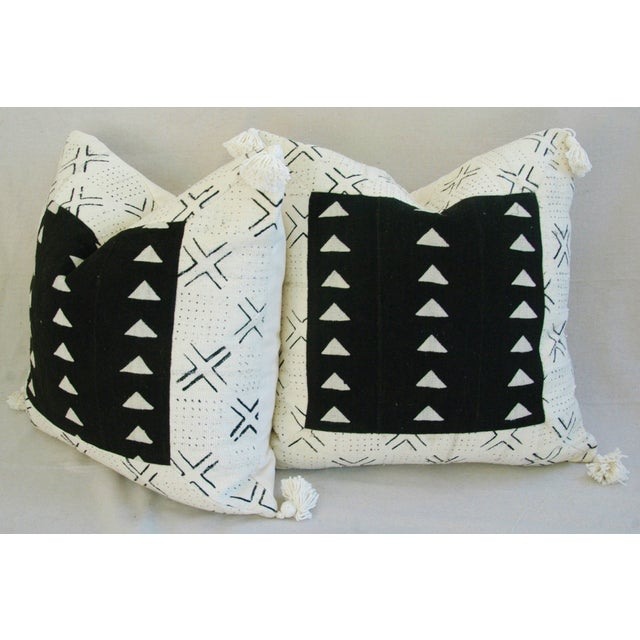 Handwoven African Tribal Textile Pillows - Pair - Image 10 of 10