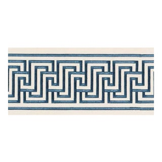 Schumacher X Mary McDonald Labyrinth Tape Trim in Blue For Sale