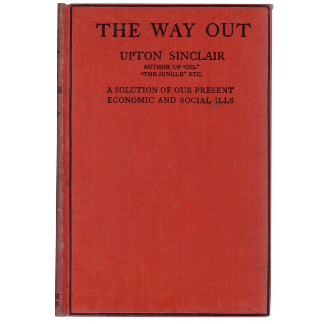 The Way Out By Upton Sinclair 1933 Chairish