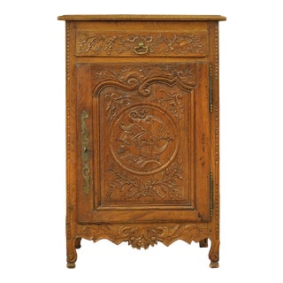 Heavily Carved Antique Cupboard For Sale