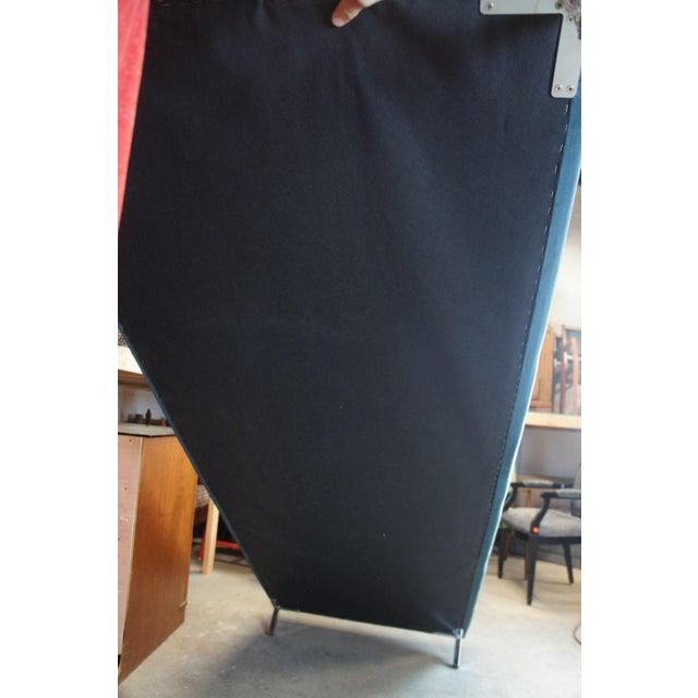 Blue Tufted Modern Velvet Upholstered Sofa For Sale - Image 9 of 13