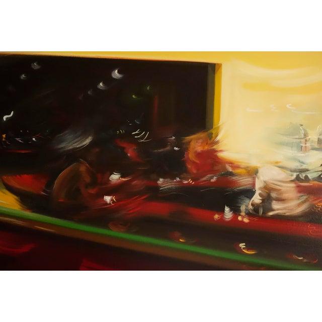 "Alexandra Pacula ""Nighthawks"" Painting - Image 3 of 7"