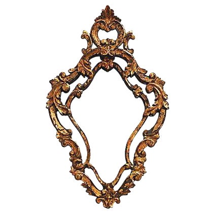 Antique Florentine Giltwood Mirror - Image 1 of 4