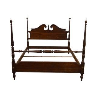 Ethan Allen Georgian Court Solid Cherry Queen Poster Bed For Sale