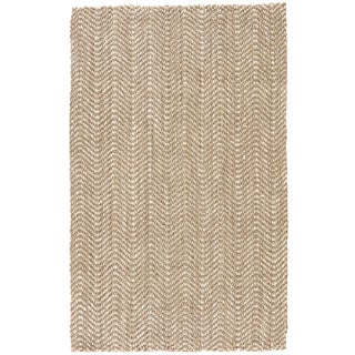 Jaipur Living Alix Natural Chevron Taupe/ White Area Rug - 5′ × 8′