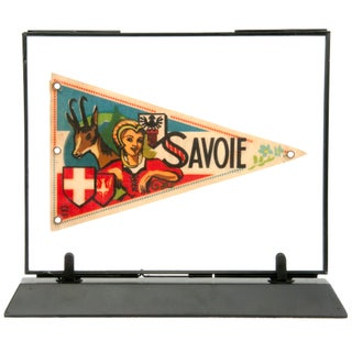 Framed Vintage French Savoie Pennant